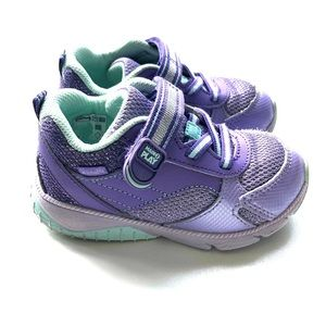 Like New Stride Rite toddler shoe purple/teal 7.5w